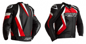 RST Tractech Evo 4 Red Leather Jacket